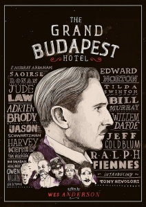 Illustrated poster for The Grand Budapest Hotel