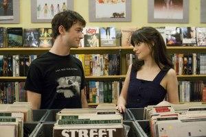 Joseph Gordon-Levitt & Zooey Deschanel filmed in the record store scene.