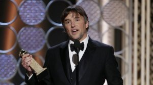 Richard Linklater accepting the award for Best Drama for Boyhood