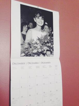 I love, love, love having a calendar up at all times. Big, in-your-face calendars. Preferably of movie stars or cities. I'm aware I'm a little late on changing it. Don't judge me, I know it's not December 2014, but Audrey Hepburn just adds a pinch of chic to my room for now.